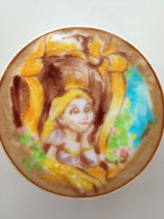 Disney's Rapunzel! So colorful Latte Art