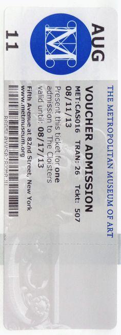 The Metropolitan Museum of Art / Pressure sensitive sticker / PUNK: Chaos to Couture / 08.11.13