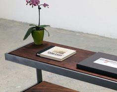 Suspended Wood and Metal End Table Modern door TaylorDonskerDesign
