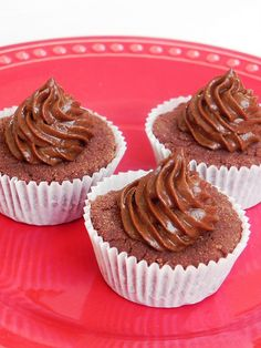 Raw Vegan Devil's Food Cupcakes with Fluffy Chocolate Frosting from Practically Raw Desserts by Amber Shea Crawley