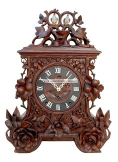 Black Forest Clocks | Black Forest Cuckoo Clocks with Large Exposed Cuckoo Birds | Black ...