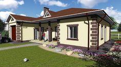 Проект одноэтажного дома. Дом имеет необходимый набор помещений, он хорошо зонирован - Полезно Знать