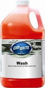 CAR BRITE Marine & RV Wash is a highly concentrated, VOC compliant, high foaming soap for the exterior surfaces of watercraft and RV's. Its pH balanced formula, with enhanced surfactants and high foam
