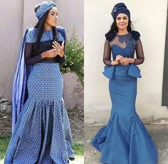 Tswana Traditional Wedding / Dresses And Wear ⋆ African Print Dresses, African Print Fashion, African Fashion Dresses, African Dress, African Wear, African Outfits, Ankara Fashion, African Wedding Dress Designers, African Wedding Attire