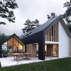 love the sheltered area Modern Architecture House, Modern House Design, Architecture Design, Style At Home, Expensive Houses, Loft Design, Metal Buildings, House Goals, Home Fashion