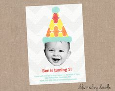 1st Birthday Invitation  Custom  Printable by DeliveredByDanielle, $12.00
