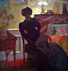 "huariqueje: "" Madame Hessel at Home - Eduoard Vuillard, 1908 French, 1868-1940 Oil on board, 28 × 27 in. (71.1 × 68.6 cm) """