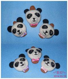熊貓髮夾組