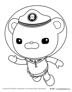 captain barnacles swim in the octonauts coloring page captain barnacles swim in the octonauts coloring page