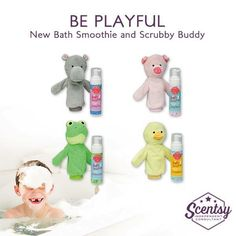 Scentsy 2015 Fall/ Winter Kids Collection New Bath Smoothie and Scrubby Buddy  https://catclayton.scentsy.us Follow me on FB at: www.facebook.com/groups/414893638685435/