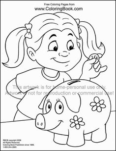 I love math coloring pages enjoy coloring educational for Piggy bank coloring page