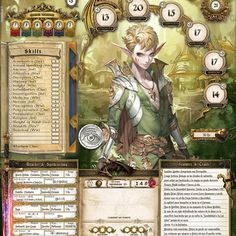 Character Sheet (Eng) - Fully customizable Dungeons and Dragons character sheet Composed of 5 sheets: Cover Characteristics of the character Equipment Magic Notes To edit it you need to use Photosho or higher or the free Pathfinder Character Sheet, Rpg Character Sheet, Character Art, Dungeons And Dragons Characters, D D Characters, Dnd Druid, Dungeons And Dragons Homebrew, Fantasy Weapons, Fantasy Artwork