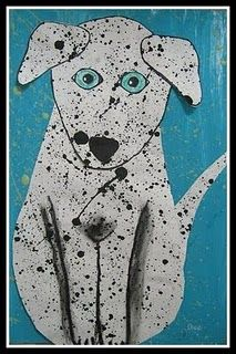 Splattered Dalmations...hmmm...Action Jackson Pollock meets George Rodrigue Dogs?