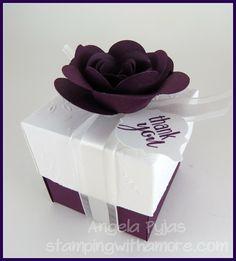 Burgundy Wedding Bonbonniere Favor Bo With Wine Satin Ribbon And Personalized Blush Tag Elegant Candy Box