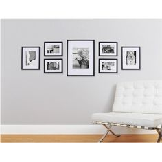 Photo Collage Frames On Wall 43 Pinnacle Gallery Perfect 7 Piece Wall Frame Set Black Wall Frame Set, Frames On Wall, Collage Frames, Gallery Wall Layout, Gallery Photo Frames, Black Photo Frames, Gallery Walls, My New Room, Living Room Decor