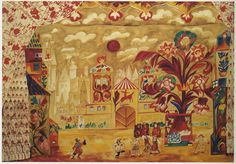 Design for Act 1 of Le Coq d'Or by Nathalia Goncharova, c.1914. Diaghilev's Ballet Russes