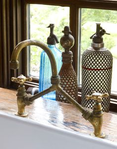 Herbeau copper faucet.