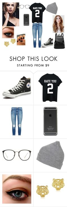 """""""Fanfic"""" by gbaezz ❤ liked on Polyvore featuring Converse, J Brand, Linda Farrow, Topshop, Kenzo, women's clothing, women, female, woman and misses"""