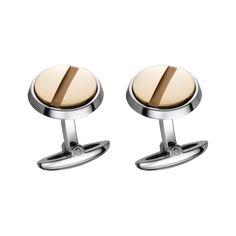 Cartier -  Santos Cufflinks - Yellow Gold, Sterling Silver.