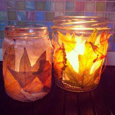 #Tutorial portacandele autunno fai-da-te - Tutorial: handmade #candleholder with #fall leaves