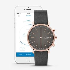 Hybrid Smartwatch - Hald Grey Leather | SKAGEN® | Free Shipping