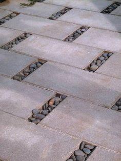 Porous paving pattern