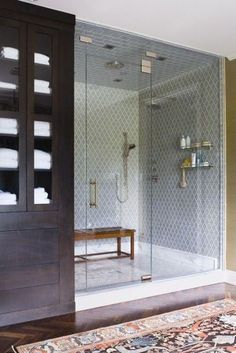 Love the built in cupboard and the design of the shower, full height glass