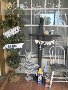 Add some curb appeal to your home with this Nautical themed porch courtesy of It's So Very Cheri. Also includes DIY direction for the adorable banner with the help of Gorilla Tape!