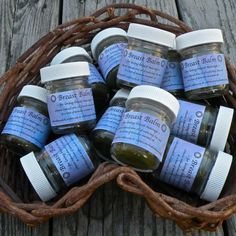 Violet infused balm for loving breast massage. #herbs #herbal