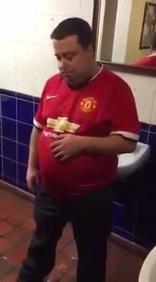Video footage reveals the affects of watching Manchester United at the Theatre of Draws last season...