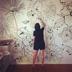 Surge uma nova paixão: @dani_hasse e suas paredes estampadas! #bujiparede…