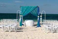 Beautiful beach wedding idea.