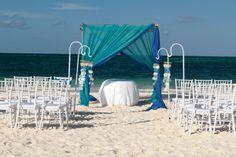 Beautiful beach wedding idea.