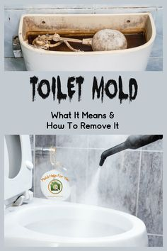 Toilet mold - what it means and how to remove it. We will look at how to remove mold under the toile Cleaning Toilet Tank, Window Cleaning Tips, Cleaning Mold, Deep Cleaning Tips, House Cleaning Tips, Diy Cleaning Products, Cleaning Hacks, Cleaning Solutions, Toilet Tank Cleaner