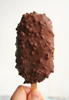 Helado Magnum casero // Homemade 'Magnum' ice-cream recipe in spanish
