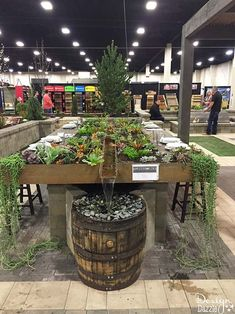 Succulent Living Garden Tablescape I absolutely love the Salt Lake Home & Garden Show. There are always such creative set-ups and I leave so inspired! The succulents in this beautiful garden tablescape was planted by my dear friend, Cynthia Bee. Garden Deco, Garden Show, Home And Garden, Garden Living, Garden Furniture Design, Garden Design, Furniture Ideas, Furniture Redo, Amazing Gardens