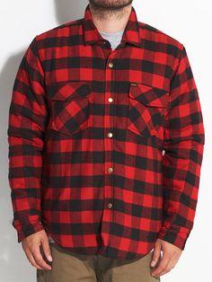 #Loser #Machine Edmund #Quilted #Flannel #Jacket in #Red $99.99