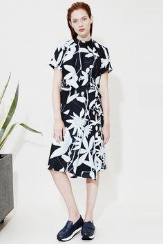 Whistles - Keppie Botanical Cropped Blouse | Keppie Botanical Skirt | Daphne Loafer Flatforms