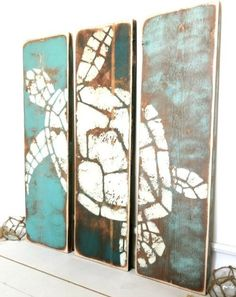 Coastal, Ocean and Beach Paintings on Wood for a Rustic Unique Look