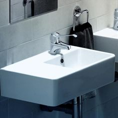 Find Caroma White Cube Extension Wall Basin With 1 Tap Hole And Left Hand Shelf at Bunnings Warehouse. Visit your local store for the widest range of bathroom & plumbing products. Rental Bathroom, Laundry In Bathroom, Bathrooms, Bathroom Plumbing, Bathroom Basin, Bathroom Showrooms, Vanity Units, Cafe Bar, Rental Property