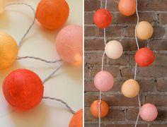 DIY: papier-mâché lit garland I am entirely in love with the idea of paper mâché lanterns of varying sorts. Diy Arts And Crafts, Fun Crafts, Paper Crafts, Mummy Crafts, Diy Projects To Try, Craft Projects, Diy Y Manualidades, Light Garland, Paper Embroidery