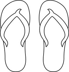 Colorable Flip Flops | Preschool Holiday Summer