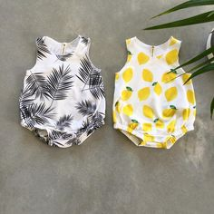 """105 Likes, 15 Comments - sunny afternoon (@sunnyafternoon.au) on Instagram: """"Summer is coming!!! ☀️ . Available tonight. . #palmleaf #palmleafromper #lemon #tropicalromper…"""""""