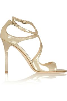 Jimmy Choo | Lang metallic leather sandals | HT