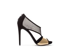 Image 1 of HIGH HEEL SANDAL WITH MESH from Zara http://effortlesseverydaystyle.blogspot.com/