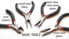 Basic Jewelry Making Tools Silver For Jewelry Making, Jewelry Making Tutorials, Jewelry Making Supplies, Jewellery Making, Mens Sterling Silver Necklace, Basic Tools, Diy Earrings, Wire Jewelry, Custom Jewelry