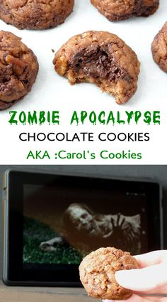 Carol's Chocolate Cookies from The Walking Dead. Can't forget the pecans!!