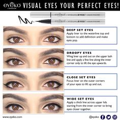 Makeup & eyebrow shaping methods to use for wide-set eyes!!!!! YAY ...