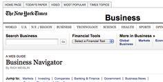 New York Times Business Navigator