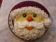 Santa salad decoration